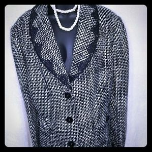 Emma James Black and white tweed blazer
